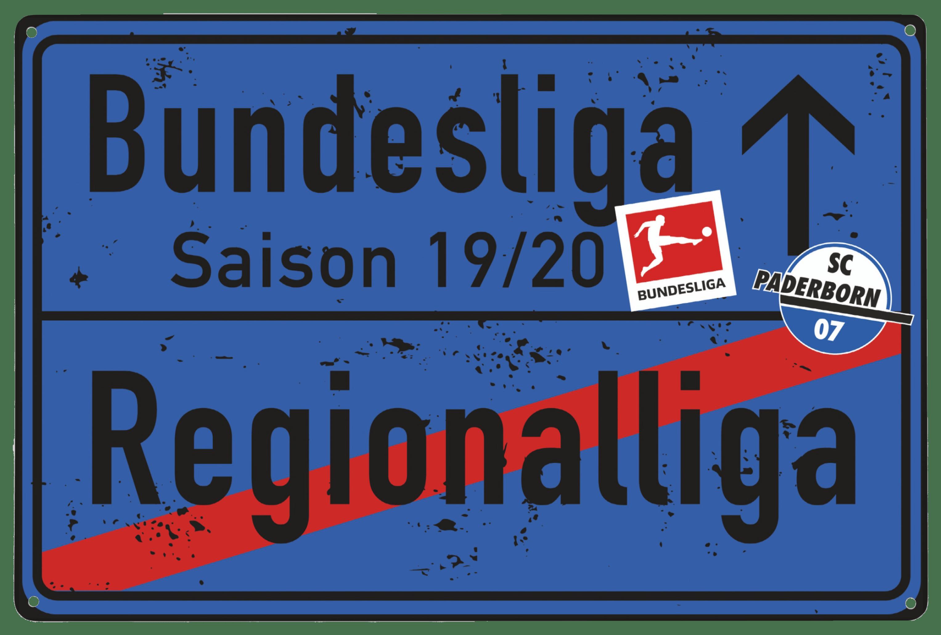 Blechschild Aufstieg 2019