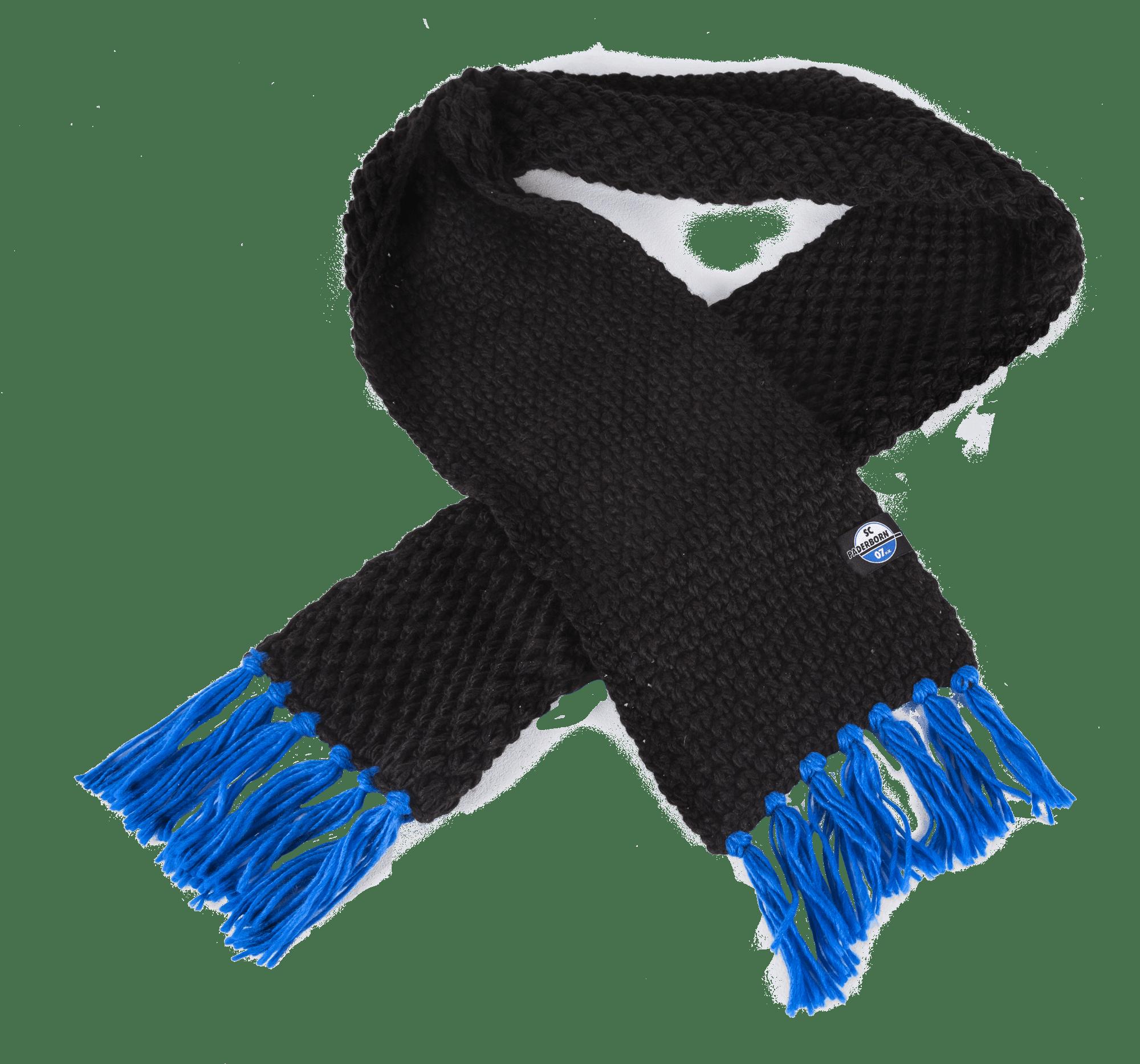 Strickschal schwarz-blau