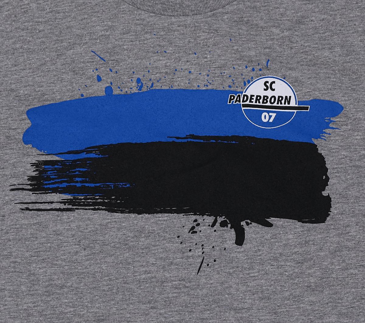 Kinder-Shirt blau-schwarz