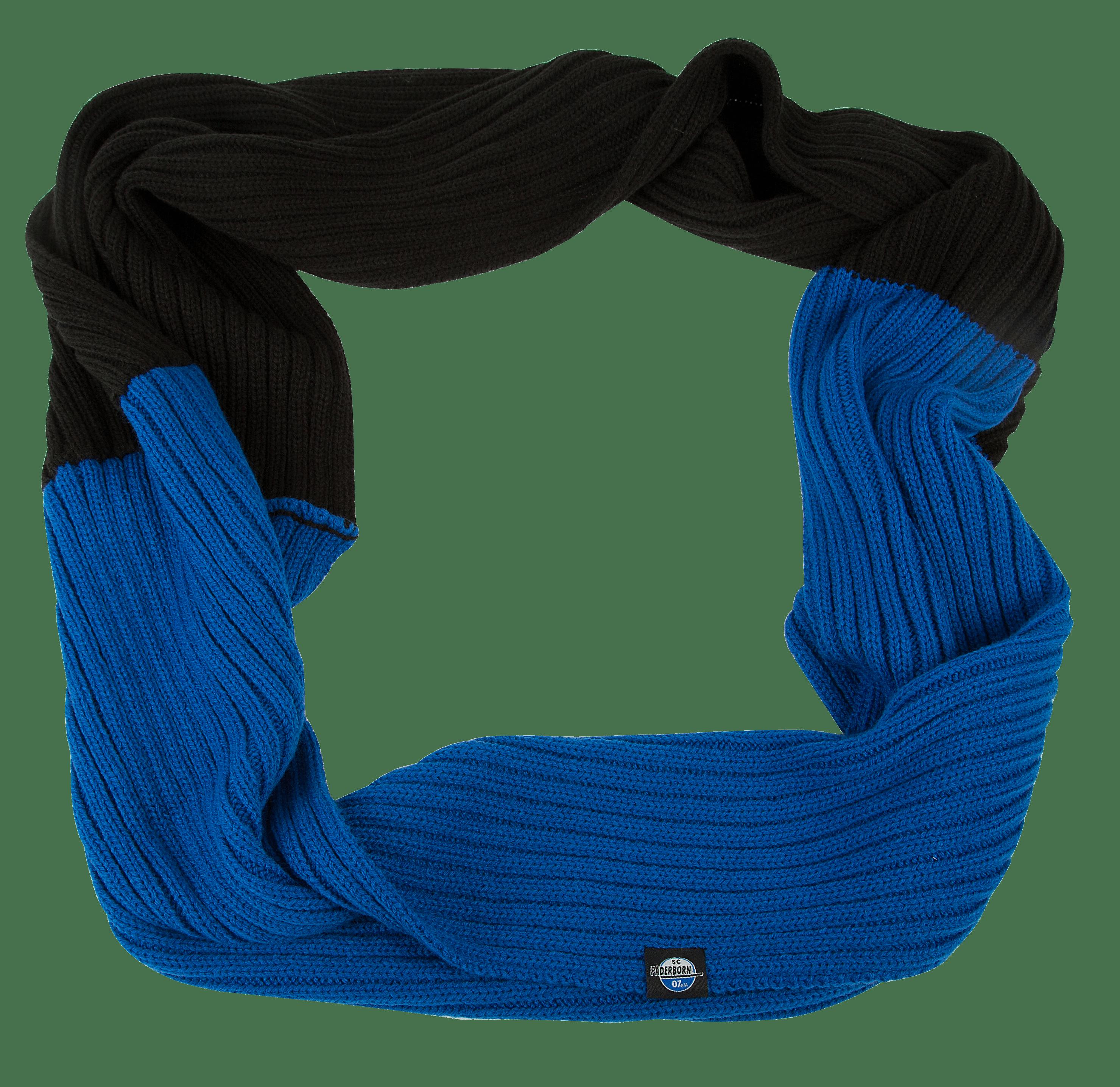 Rundschal schwarz-blau